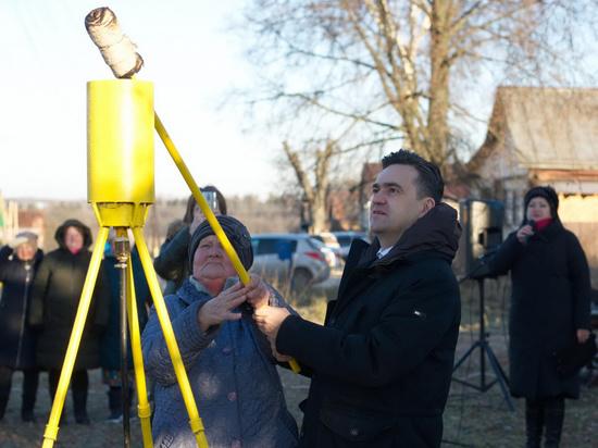 За год в тридцать населенных пунктов Ивановской области пришел газ
