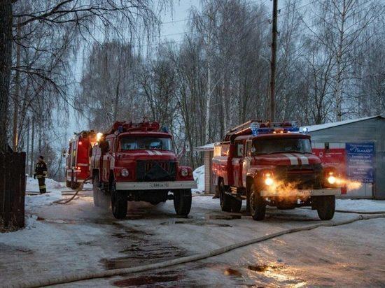 В Кирово-Чепецке сгорела общественная баня