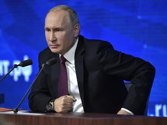 Президент России отвечает на вопросы журналистов в прямом эфире
