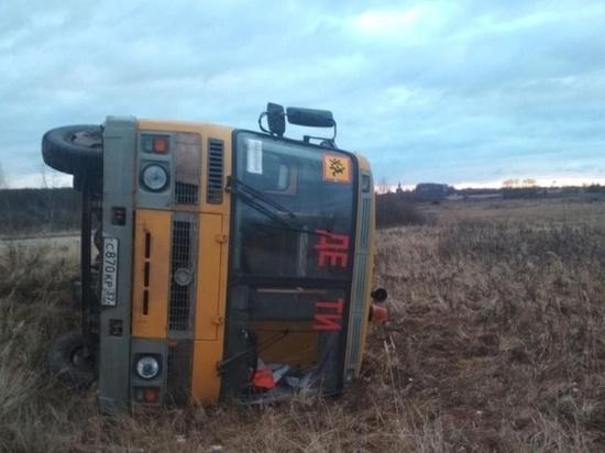 В Ивановской области опрокинулся автобус, перевозивший школьников