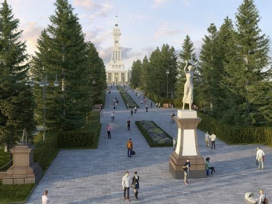 Появились подробности реконструкции парка Северного речного вокзала