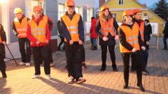 Юные строители Калуги устроили флэш-моб