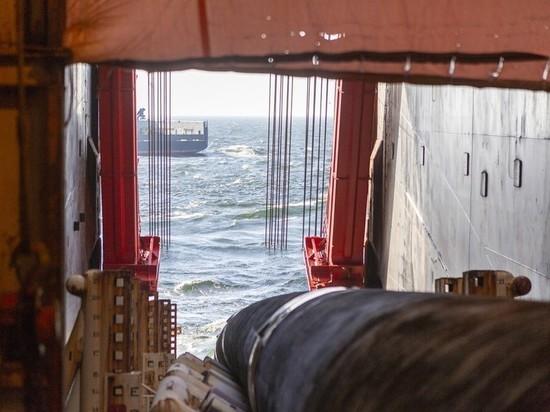 Компания Allseas вывела суда, которые занимались укладкой газопровода