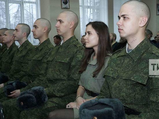 Впервые в Президентский полк отправились тройняшки из Казани