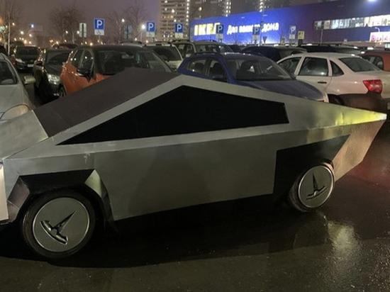Подмосковные автомеханики рассказали, как превратили «Жигули» в Tesla Cybertruck