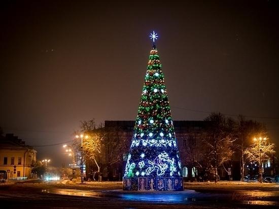 Какая зима - такие елки: что украшает райцентры Псковской области