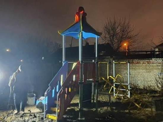 На улице Лежневской в Иванове появился детский игровой комплекс