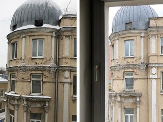 В центре Москвы строители замуровали птенцов голубей в куполе дома