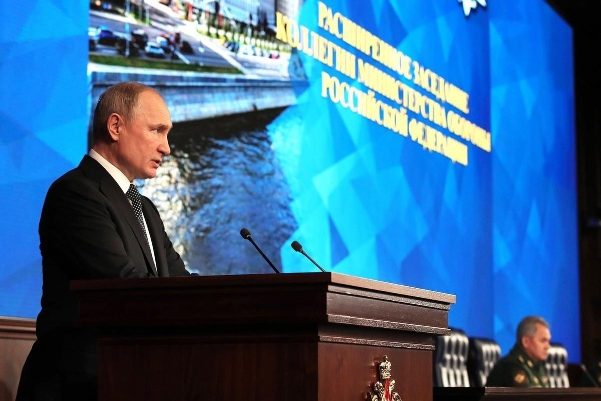 Путин рассказал о планах оснащения армии и флота лазерным оружием