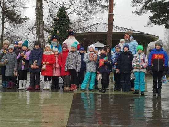 В Плесе инспекторы ГИБДД провели для местной детворы новогодний праздник