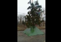 Житель города Новомосковска  Георгий Трофимов опубликовал в соцсети видео, на котором можно наблюдать установленную в районе Шамотный
