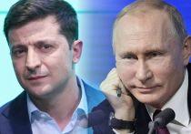 Офис президента Украины сообщил, что президенты Украины и России Владимир Зеленский и Владимир Путин провели телефонные переговоры и поздравили друг друга с Новым годом