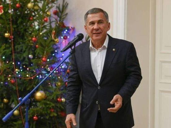 Минниханов поздравил татарстанцев с Новым годом