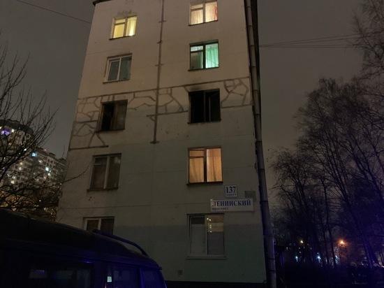 В пожаре на Ленинском проспекте погиб человек