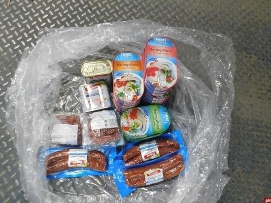 600 кг продуктов изъяли на границе в Псковской области