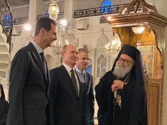 Путин в Дамаске посетил мечеть Омейядов и узрел голову Иоанна Крестителя