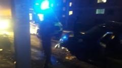 В Астрахани водитель сбил человека и врезался в забор: видео с улицы Бакинской