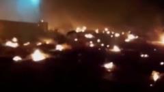 Появилось видео с места крушения самолета под Тегераном