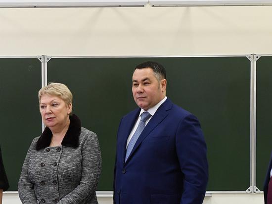 Ольга Васильева и Игорь Руденя посетили Степуринскую школу в Старицком районе