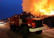 Под Северодвинском горело хозяйственное строение