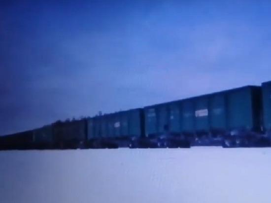 На Шиес пригнали подозрительный состав из 55 вагонов