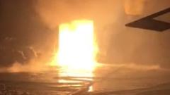 В Подмосковье сгорел склад металлоконструкций: эпичные кадры