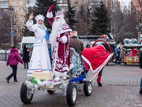 В Курске прошли торжественные проводы Деда Мороза