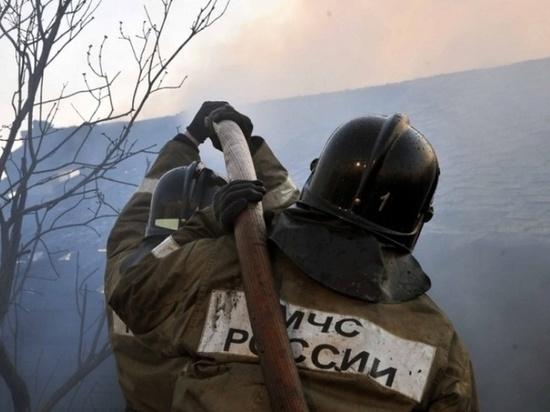 В Ивановской области сгорели сараи на большой площади