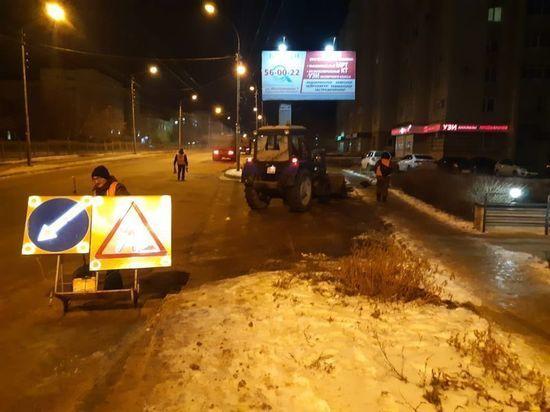 За выходные из Тамбова вывезено более 2700 кубометров снега