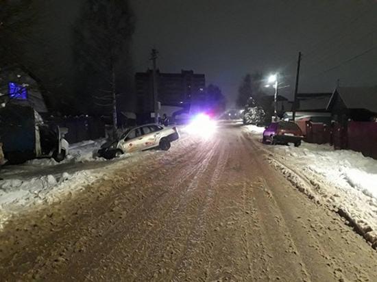 В Вязьме Лада Гранта вылетела с дороги, пострадали пассажиры