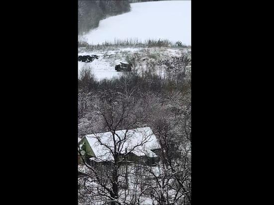 Воронежцев возмутила свалка снега с реагентами возле Ботсада