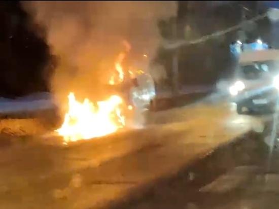 В Костроме на улице Магистральной сгорела «Газель»