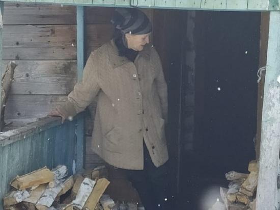 Чиновники проверили условия проживания замерзающей бабушки из алтайского села