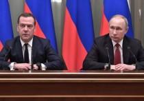 Медведев перед отставкой надел траурный галстук
