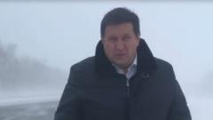 Министр транспорта Алтайского края вышел в метель и обратился к людям