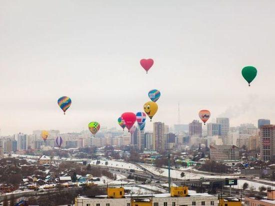 Над Уфой промчались 15 воздушных шаров