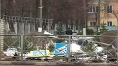 Видео с места ночной аварии на ул. Болдина в Туле