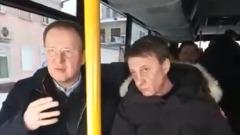 Губернатор Алтайского края прокатился на автобусе по Барнаулу и проверил уборку снега
