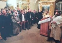 Вячеслав Володин отстоял праздничную службу в Псково-Печерском монастыре