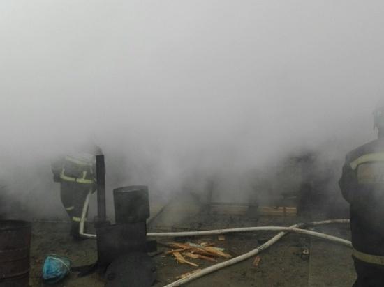 Пожар в Малоярославце уничтожил несколько построек