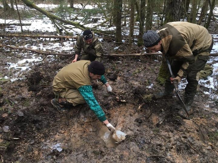 В Тверской области обнаружили останки солдата и предметы с процарапанными инициалами
