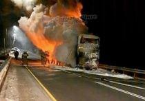 В автобусе, который загорелся возле Забайкальска, никто не пострадал