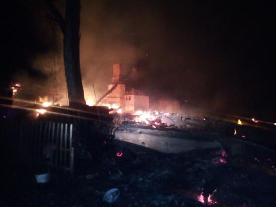Человек пострадал в мощном пожаре под Козельском
