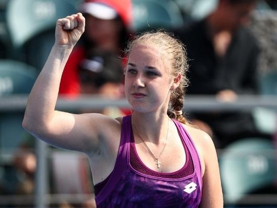 Анна Блинкова пробилась во второй круг Australian Open