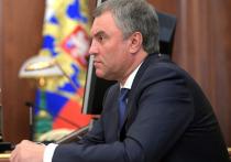 Председатель Государственной думы Вячеслав Володин оценил перестановку федеральных министров