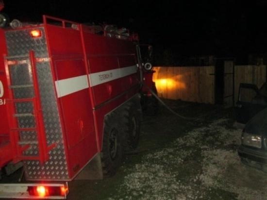 За прошедшую ночь в Костромской области сгорели гараж и жилой дом
