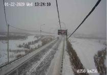 В Оловяннинском районе выпал снег, водителей просят быть осторожнее