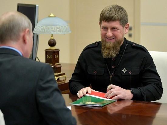 Кадыров поблагодарил Путина за назначение Чайки полпредом на Кавказе