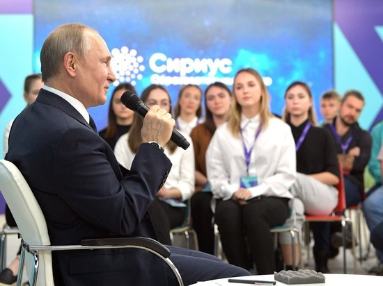 Путин отверг предложение студентов стать «наставником нации»