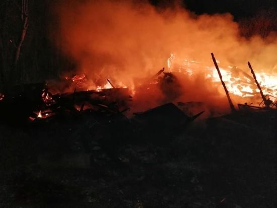 Дача сгорела под Мосальском